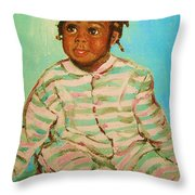 African Cutie Throw Pillow