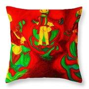 African Dancers Throw Pillow