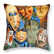 African Eclectic Throw Pillow