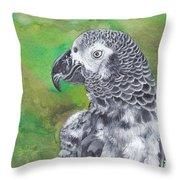 African Grey Parrot Throw Pillow