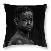 African Kid Throw Pillow