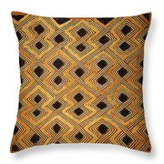 African Kuba Design Throw Pillow