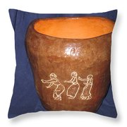 African Ladies Lead The Dance - View One Throw Pillow