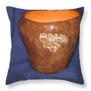 African Ladies Lead The Dance - View Two Throw Pillow