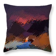 African Landscapes Throw Pillow