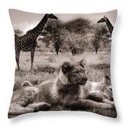 African Life Throw Pillow