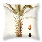 African Oil Palm Throw Pillow