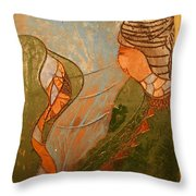 African Respect - Tile Throw Pillow