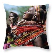 African Rhythm Throw Pillow
