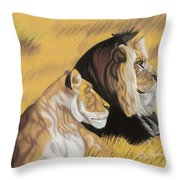 African Royalty Throw Pillow