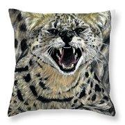 African Serval Throw Pillow