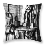 African Statues Throw Pillow