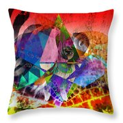 African Story In Three Time Travels Throw Pillow
