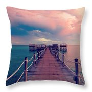 African Sunrise Cotton Candy Skies Throw Pillow