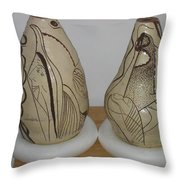African Terracotta Goulds - View One Throw Pillow