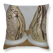 African Terracotta Gourds - View Two Throw Pillow