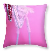 African Wire Flamingo Throw Pillow