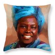 African Woman Throw Pillow