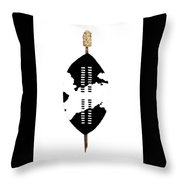 African Zulu Warrior Shield Throw Pillow
