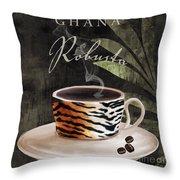 Afrikan Coffees II Throw Pillow