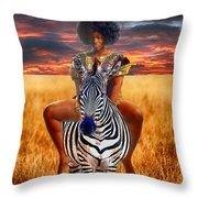 Afrikkan Princess  Throw Pillow