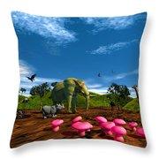 Afriquarium Throw Pillow