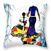 Afrique Walk Throw Pillow