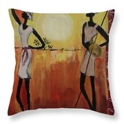 Afro Abstract Throw Pillow
