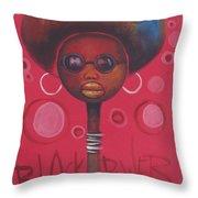 Afro American Women Throw Pillow