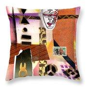 Afro Collage - E Throw Pillow
