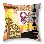 Afro Collage - F Throw Pillow