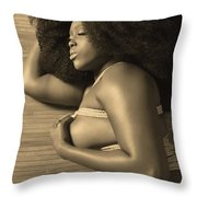 Afro Pic Throw Pillow