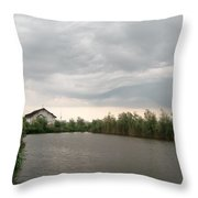 After A Rainy Day In Danube Delta Throw Pillow