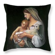 After Bouguereau Throw Pillow