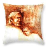 After Geronimo Throw Pillow by Johanna Elik