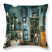 After Hours Antiques Throw Pillow