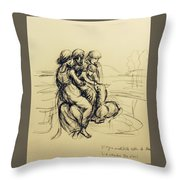 After Leonardo Da Vinci  Throw Pillow