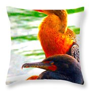 After Lunch Nap Throw Pillow