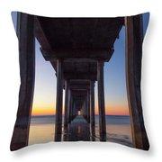 After Sunset At Scripps Pier Throw Pillow
