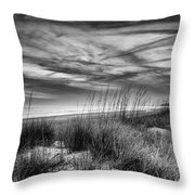 After Sunset In B And W Throw Pillow