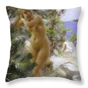 After The Bath, 1895 Throw Pillow