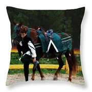 After The Joust Throw Pillow