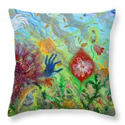 After The Manna Manifestation Of The Quail Throw Pillow