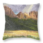 After The Monsoon Organ Mountains Throw Pillow