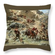 After The Raid Throw Pillow