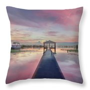 After The Rain Sunrise Painting Throw Pillow