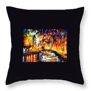 After The River Turns Throw Pillow