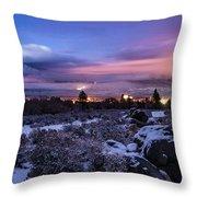 After The Snow Storm Throw Pillow
