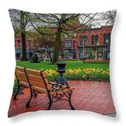 After The Spring Rain Throw Pillow