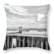 After The Storm Black And White Throw Pillow